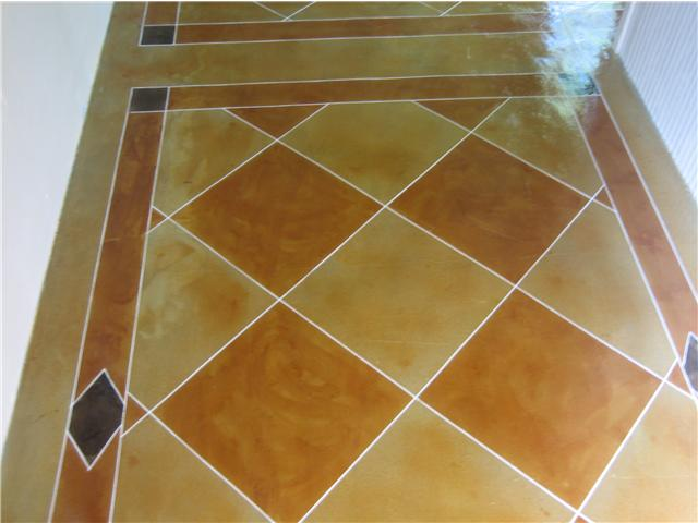 checkerboard pattern w/ 3-color stain